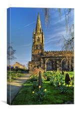 St Mary's Church, Handsworth, Sheffield , Canvas Print