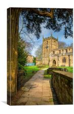 St James Church, Norton, Sheffield , Canvas Print
