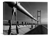 Humber Bridge in Mono, Canvas Print