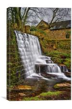 Lumsdale Falls and Dam , Canvas Print