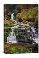 Middle Black Clough Falls, Canvas Print