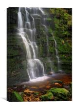 Middle Black Clough Waterfall, Canvas Print