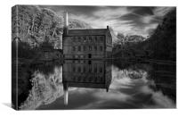 Gibson Mill Reflections , Canvas Print