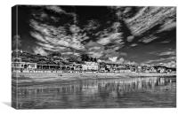 Lyme Regis Seafront in Mono , Canvas Print