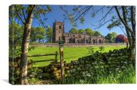 Church of St Nicholas,  High Bradfield, Canvas Print