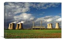 Stormy Skies over West Burton Power Stations, Canvas Print
