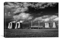 West Burton Power Stations in Mono , Canvas Print
