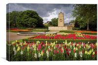 Cenotaph and Gardens, Clifton Park, Rotherham , Canvas Print