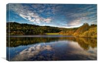 Rivelin Dams Reflections, Canvas Print