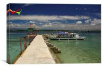 Samal Island Jetty and Pump Boat , Canvas Print