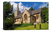 St Bartholomew's Church, Maltby , Canvas Print