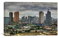 Makati Skyline , Canvas Print