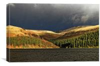 Storm over Howden , Canvas Print