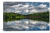 Ulley Country Park Reflections , Canvas Print