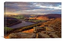 Golden Views of Ladybower , Canvas Print