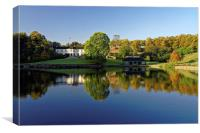 Crookes Valley Park in Autumn , Canvas Print