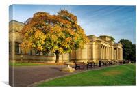 Weston Park Museum in Autumn, Canvas Print