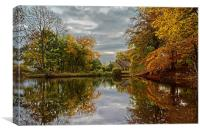 Bentley Brook Mill Pond , Canvas Print