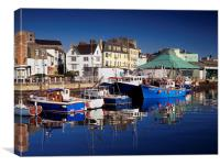 The Barbican, Plymouth, Canvas Print