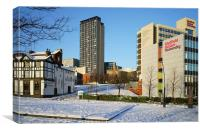 Hallam University and City Centre from Pond Street, Canvas Print