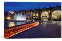 Sheaf Square at Night , Canvas Print