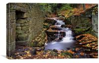 Lumsdale Waterfalls and Mill , Canvas Print