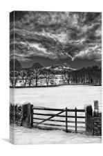 Gateway to Bamford Edge , Canvas Print