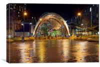 Sheffield Winter Gardens at Night , Canvas Print