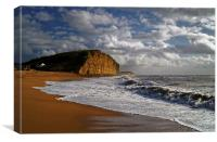 Stormy day at West Bay, Canvas Print