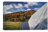 Derwent Dam in Autumn, Canvas Print