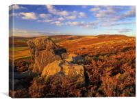 Over Owler Tor & Stanage Edge, Canvas Print