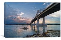 Marcelo Fernan Bridge at Sunset                   , Canvas Print