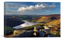 Ladybower & Derwent Valley, Canvas Print