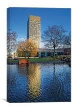 University Arts Tower and Weston Park, Canvas Print
