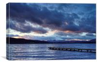 Windermere at Dusk                               , Canvas Print