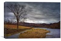 Rydal Water in Winter                             , Canvas Print