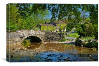 Malham Bridge and Beck                      , Canvas Print