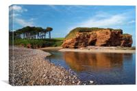 Budleigh Reflections                     , Canvas Print