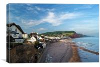 Evening Light over Sidmouth                      , Canvas Print