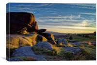 Owler Tor Sunset                               , Canvas Print