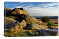 Owler Tor and Lawrence Field                      , Canvas Print