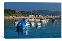 Lyme Regis Harbour                       , Canvas Print