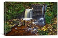 Rivelin Old Mill and Falls                        , Canvas Print