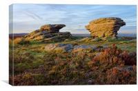 Ox Stones, Burbage Moor                           , Canvas Print