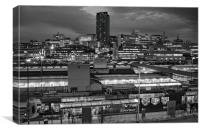 Sheffield City Centre at Night, Canvas Print