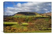 Edale and Hope Valley                     , Canvas Print