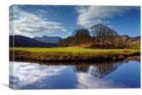 River Brathay Reflections                         , Canvas Print