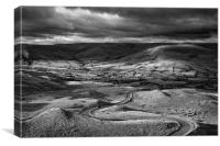 The Long and Winding Road  in Mono                , Canvas Print