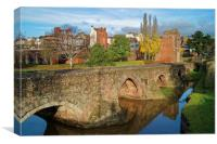 Medieval Exe Bridge                   , Canvas Print