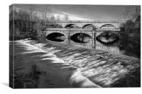 Norfolk Bridge and Burton Weir                    , Canvas Print